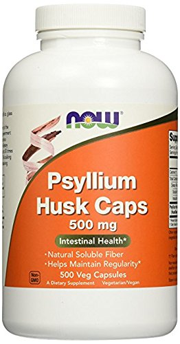 NOW Foods Psyllium Husk 500mg, ji1yv pack 3Pack (500 Vcaps)