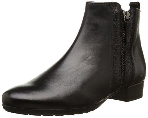 Gabor Comfort Fashion - botines de cuero con cremallera para mujer Negro (micro 57)