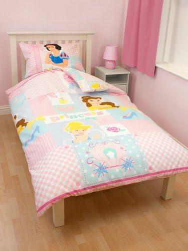 35431 Disney Copripiumino per Letto Singolo in Morbido Cotone Caldo e Confortevole con Disegno Principesse Disney Made in Europe Codice Prodotto