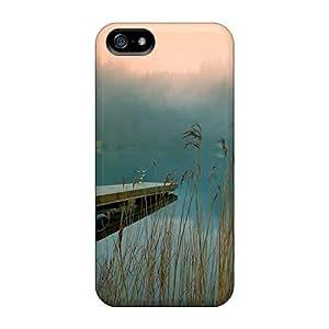 New Style Megan A Ferguson Lake Pontoon Pier Premium Tpu Cover Case For Iphone 5/5s