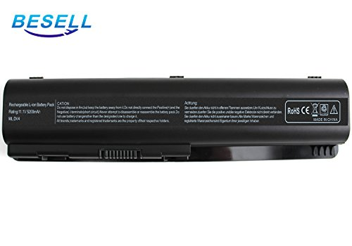 BE▪SELL 11.1V 5200mAh Laptop Battery for HP Compaq Presario CQ60 G60 CQ61 CQ50 G71 CQ40 G50 G61 CQ60-615DX G71-340US CQ45 G60-230US G60-535DX DV6-1355DX CQ70 HDX16 Pavilion DV4 DV5 P/N EV06 484170
