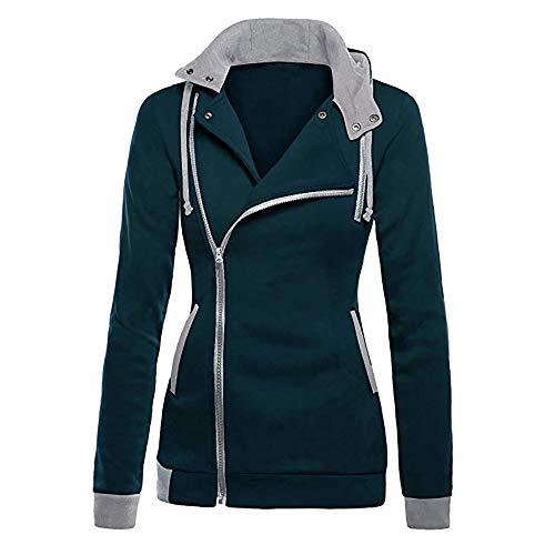 Women Jacket Sale,KIKOY Long Sleeve Plus Velvet Hooded Sweater Zipper Chic Coat