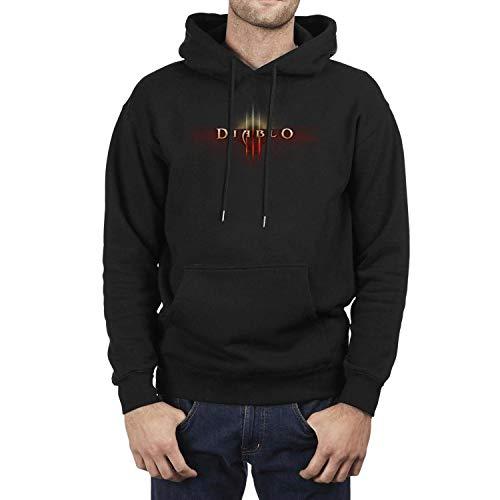 hoppobabo Diablo-3-Logo- Hoodie Fleece Adult Shirt Jacket Sweatshirt for Men Hooded -
