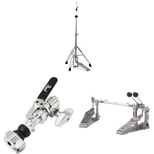 Pearl H830 Hi-Hat Stand, Demonator Style Long Footboard and Swivel Legs with Pearl DCL300P Drop Clutch, Felt Washers, Lock Nut andPearl P932 Demonator Right Footed Single Chain with Interchangeable Cam ()