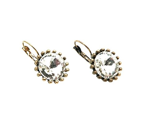 Fundasy White Crystal Venus Flytrap Beautiful Earrings Daisy Necklace Earrings