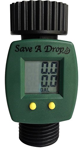 SAVE A DROP WATER METER by P3 INTERNATIONAL - MEASURES GALLON USAGE FROM GARDEN HOSE