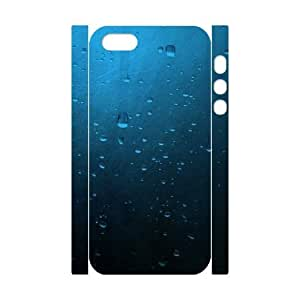 3D iPhone 5,5S Case,On Rainy Days Hard Shell Back Case for White iPhone 5,5S