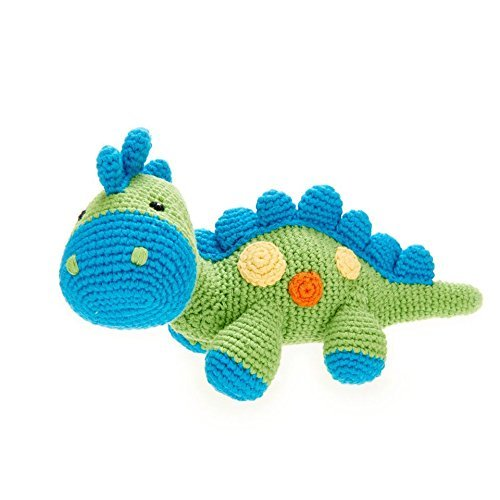 Pebble | Handmade Dinosaur - Green | Crochet | Fair Trade | Pretend | Imaginative Play | Stegosaurus | Machine Washable