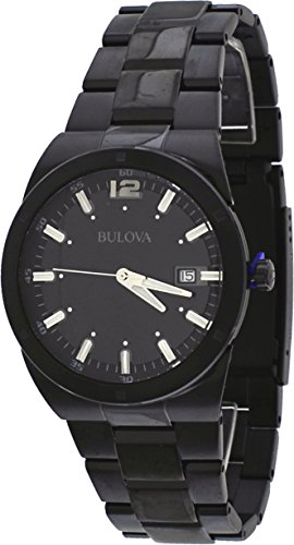 Bulova Men's 98B234 Classic Analog Display Japanese Quartz Black Watch (Black Bulova Watch)
