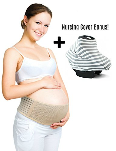 Adjustable One Size Fits All Vikka Breathable Maternity Belt: Pelvic and Back Pain Relieving Elastic Shapewear for During and After Pregnancy by Vikka