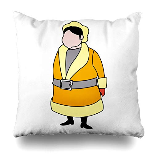 LALILO Throw Pillow Covers Cartoon Mrs Claus Merry Christmas Christmas and New Year Symbol Fun Double-Sided Pattern for Sofa Cushion Cover Couch Decoration Home Bed Pillowcase 18x18 inch ()