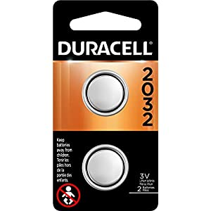 Duracell – 2032 3V Lithium Coin Battery – long lasting battery – 2 count