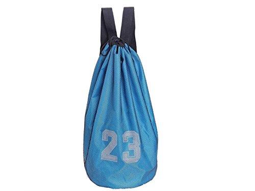 HSDDA Mochila al Aire Libre 23 número de Mochila de fútbol Bolsa de Gimnasia Bolsillos Bolsillos Titular de la Bola del Lazo del día para el Equipo de Entrenamiento Deportivo (Azul) Mochila Deportiva
