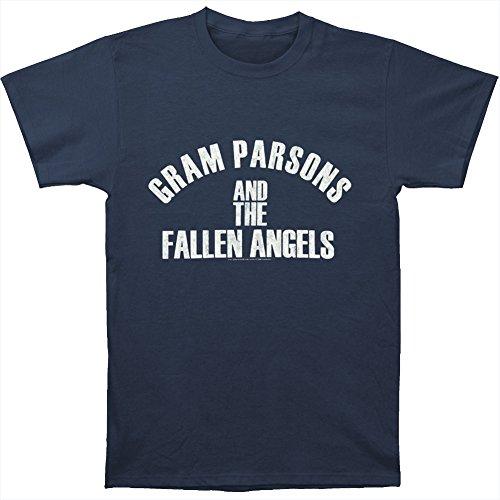Gram Parsons Men's Fallen Angels T-shirt XX-Large Navy - Fallen Angel T-shirt