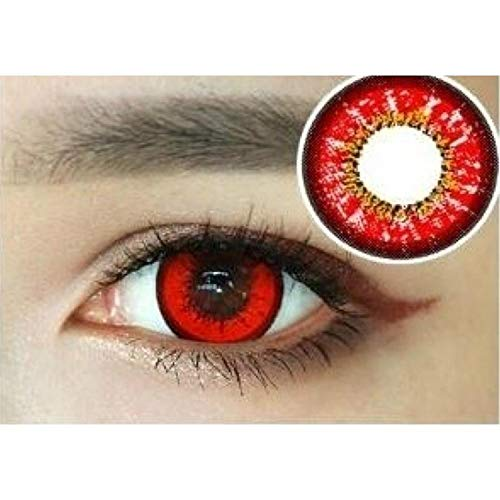 Oanono Multi-Color Cute Contact Lenses Color Blends Cosplay Eyes Cosmetic Makeup Eye Shadow With a Case (A Pair) for $<!--$11.99-->