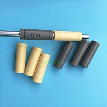 Size: 8x15x45mm, Color: Gray Zamtac 4pcs Solid Polymer LML8UU Linear Bearings Bushing LM8LUU 8MM 81545mm Prusa for Mendel DIY CNC Machine
