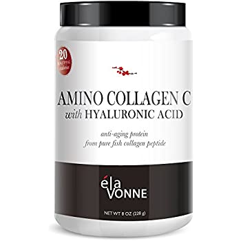 Amino Collagen C with Hyaluronic Acid powder mix (30 Day Supply 228g) — Pure Collagen Powder Flavorless Drink Mix from Fish Anti-Aging Protein to Improve ...