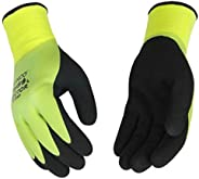 Kinco - Hydroflector Lined Waterproof Latex Work Gloves, Extra Warm 15-Gauge Acryllic Knit Shell with 7-Gauge