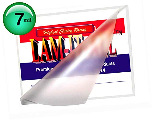 7 Mil Video Card Laminating Pouches 4 x 6 Laminator Sleeves Qty 100 by LAM-IT-ALL