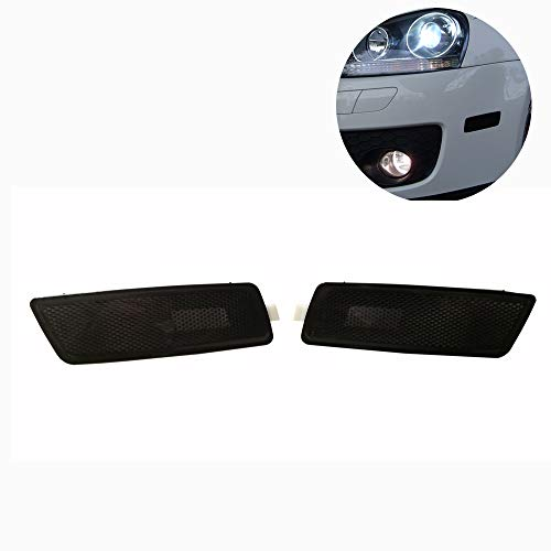GSRECY Pair for 06-09 MK5 Rabbit/GTI//GLI Jetta Front Bumper Side Marker Lights Lamp (Smoke)