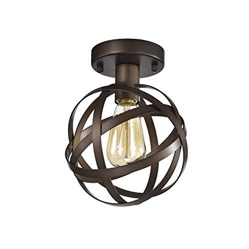 Mini Flush Mount Chandelier Lighting Bronze Orb Ceiling Light Fixture 1 Light 17042 - Orb Small Pendant