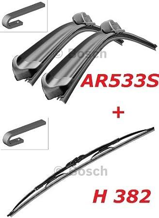 Bosch Limpiaparabrisas Frontal.traseros y borrador - Aerotwin AR533S ...