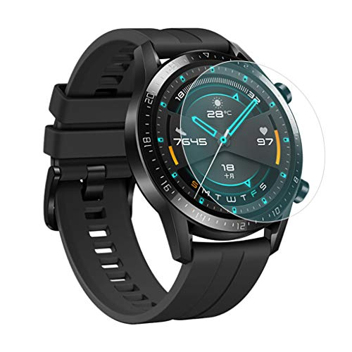 Vaycally 3xExplosion-Proof TPU Full Cover Screen Protector Film for Huawei Watch GT2 46mm 2 46Mm Smart Watch TPU…