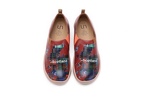 Uin Kvinna Fantastiska Skottland Röd Vacker Microfiber Promenadskor
