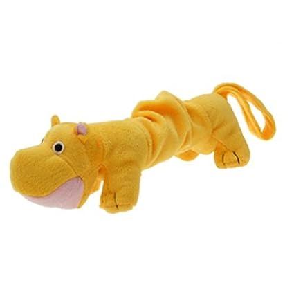 eDealMax Río Caballo Felpa chillona perro Juguete Para mascotas, Amarillo