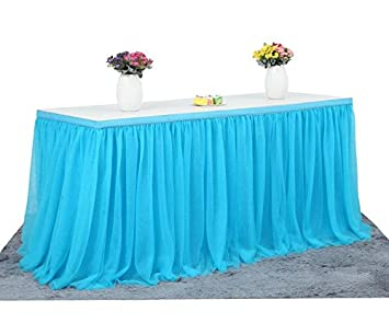 Amazon Com Tulle Table Skirt L108 H30 Table Decorations For