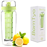 BamTyo 32 oz.Fruit Infuser 2-In-1 Sport Water Bottle