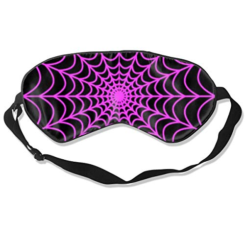 Eye Cover Sleeping Mask for Woman and Men, Halloween Spider Web Blackout Sleep Mask Comfortable Eye Mask Blindfold for Night's Sleeping, Insomnia, Migraine, Pack of -