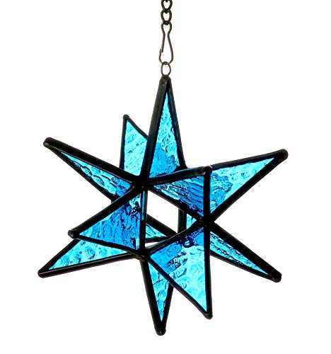 (Alivagar Moravian Star Stained Glass Christmas Ornament, 3 1/2