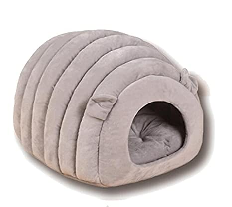 MwaaZ Camas para Gatos Sofás Semi-Cerrado Creative Warm Pet Nest Pet Supplies Gray: Amazon.es: Productos para mascotas