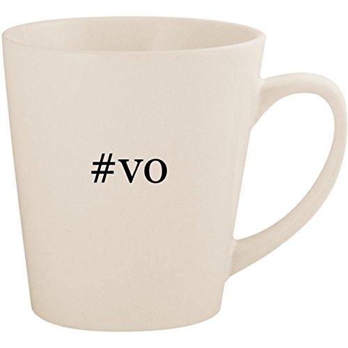 #vo - White Hashtag 12oz Ceramic Latte Mug Cup