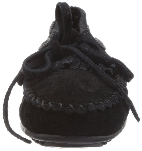 Fringed Moc Women's Minnetonka Black Mocassins Black SgPxvwx