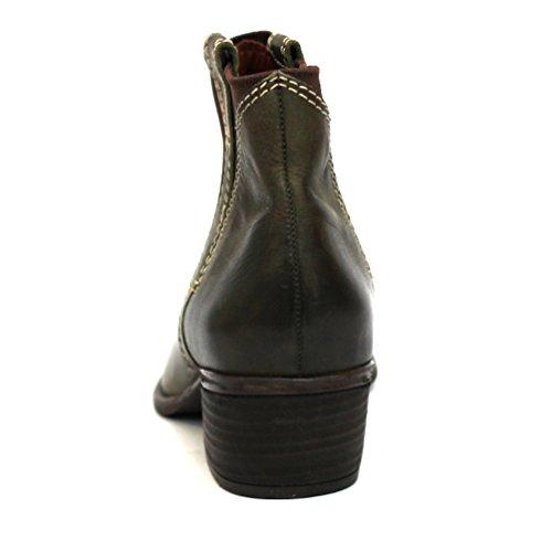 Marca con diseño de estampado de botas de diseño vaquero Lucky de tobilleras con peso, UK 3, 5, con diseño de Liverpool CLUB £99 verde - Dark Stone Green