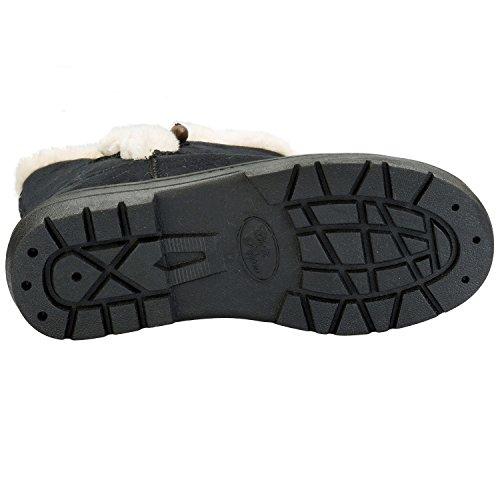 Chilli Pepper Kilburn Damen-Boots mit Knebelknopf (schwarz)