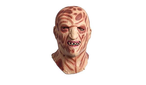 JIAAE Halloween Navidad Máscara De Horror Látex Sombrero De Fuego Quemaduras Monstruo Máscaras Fiesta De Rendimiento Apoyos De La Película: Amazon.es: Deportes y aire libre