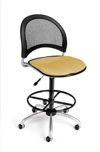 (OFM 336-DK-2205 Moon Swivel Chair with Drafting Kit, Golden Flax)