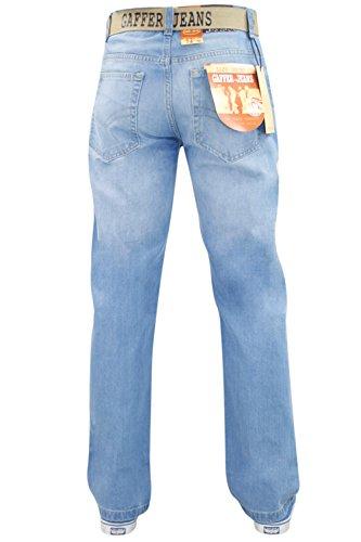Gamba Nuovo Incluso Denim Resistente Cintura Cotone Jeans Taglio Basic Blu Regolare Uomo Dritta Da SwUxSRTF