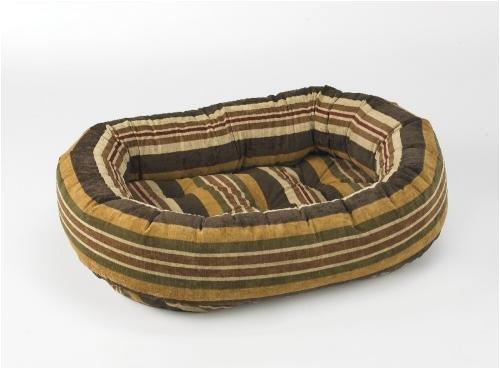 Bowser Donut Bed-Canyon Stripe Microvelvet-Medium, My Pet Supplies