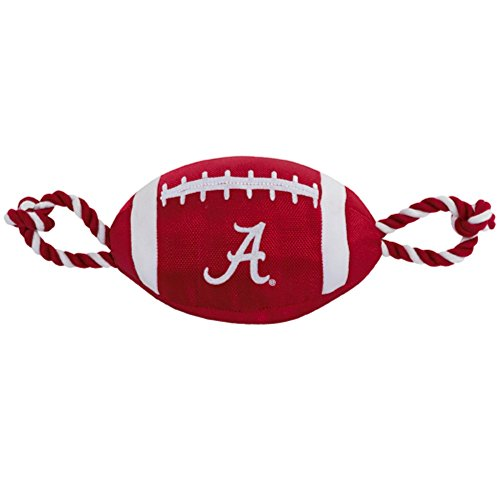 [해외]Alabama Crimson Tide Pet`s First Nylon Tough Football Dog Toy / Alabama Crimson Tide Pet`s First Nylon Tough Football Dog Toy
