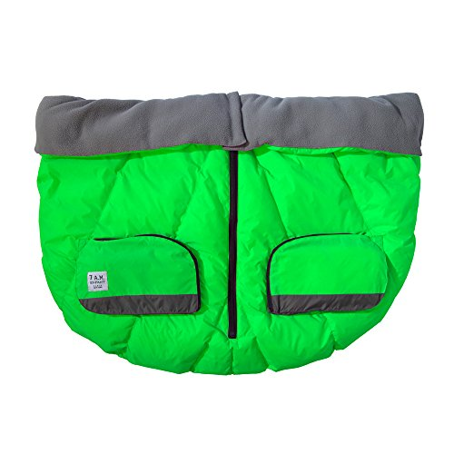 7AM Enfant Duo Double Stroller Blanket, Neon Green by 7AM Enfant