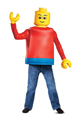 Disguise Lego Guy Classic Child Costume, Red, Size/(4-6)