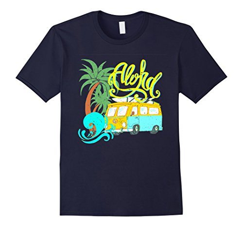 Mens Aloha Vintage Look Distressed Camper Surf T-Shirt 3XL Navy