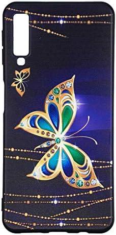 あなたの携帯電話を保護する サムスンギャラクシーA7&A750のためのエンボスパターンTPUソフトプロテクターカバーケース (パターン : Big butterfly)