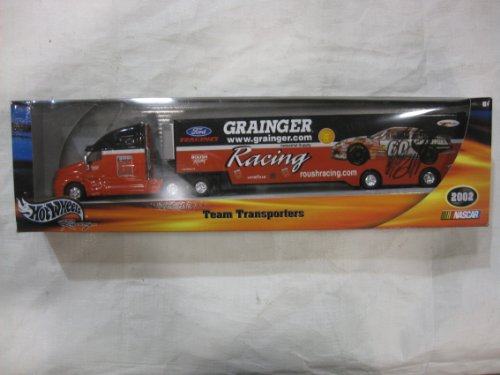 Greg Biffle Grainger Racing Team Transporter / Hauler with Die Cast Cab Opening Rear Doors the Trailer in a 1:64 Scale By Hotwheels ()