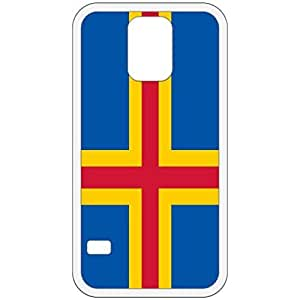 Land Islands Flag White Samsung Galaxy S5 Cell Phone Case - Cover