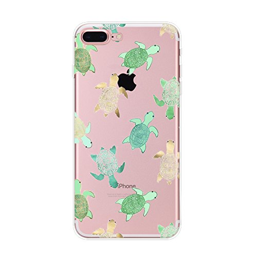 iPhone 6 Case, iPhone 6s Case, Slim Transparent Silicone TPU Protective Cover for 4.7 iPhone 6/iPhone 6s Ultra Thin Flexible Soft Gel Back Skin Cute Lovely Turquoise Sea Turtle